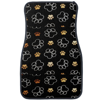 Fun Dog paw print pattern accessories Dog walker Car Mat