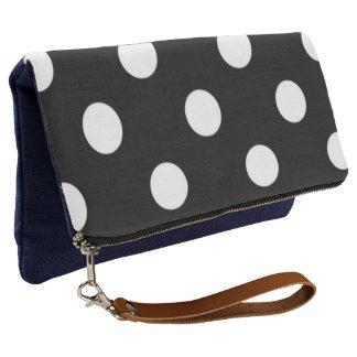Fun-Dots-Black-White-Multi-Colors Clutch