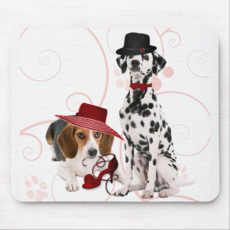Fun Dressed Up Dogs for the Dog Mom Mouse Pad