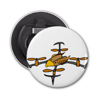 Fun Drone Flying Eagle Design Button Bottle Opener
