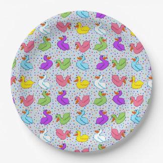 Fun Ducks Paper Plates (No Banner)