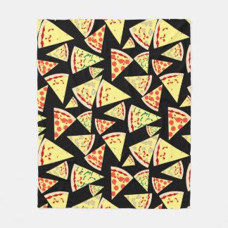 Fun Dynamic Random Pattern Pizza Lover's Fleece Blanket