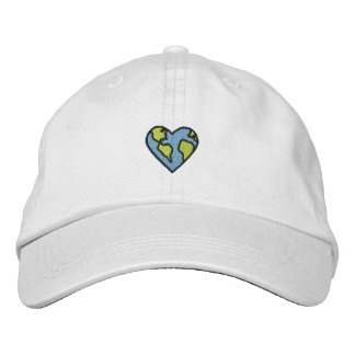 Fun Earth Heart Embroidered Icon Embroidered Hat