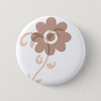 Fun Earthy Flower 2 Inch Round Button
