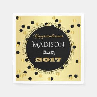 Fun & Elegant 2017 Graduation Disposable Napkins