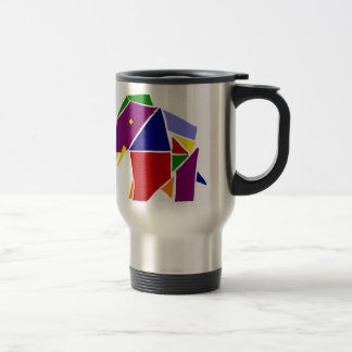 Fun Elephant Origami Art Travel Mug