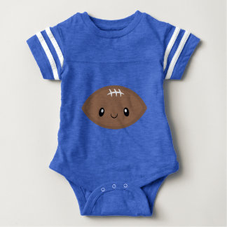 Fun Emoji Football Baby Bodysuit