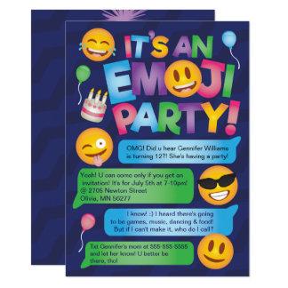 Fun Emoji Party Invitation