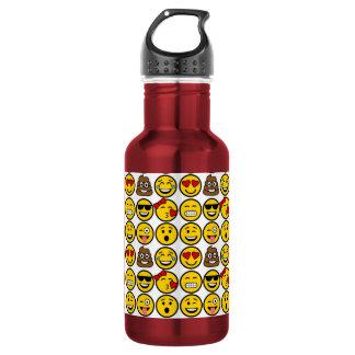 Fun Emoji Pattern Emotion Faces 532 Ml Water Bottle