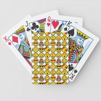 Fun Emoji Pattern Emotion Faces Bicycle Playing Cards