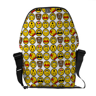 Fun Emoji Pattern Emotion Faces Commuter Bags