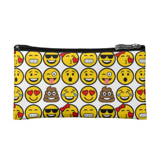 Fun Emoji Pattern Emotion Faces Cosmetic Bag
