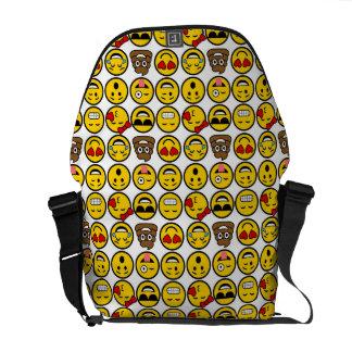 Fun Emoji Pattern Emotion Faces Courier Bag