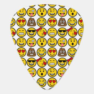 Fun Emoji Pattern Emotion Faces Guitar Pick