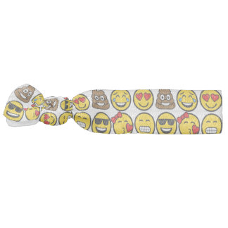 Fun Emoji Pattern Emotion Faces Hair Tie