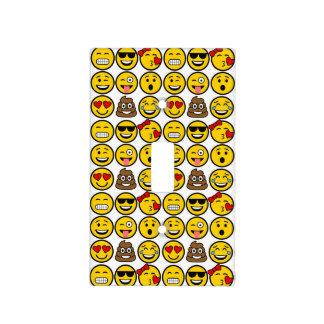Fun Emoji Pattern Emotion Faces Light Switch Cover