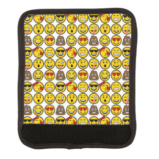 Fun Emoji Pattern Emotion Faces Luggage Handle Wrap