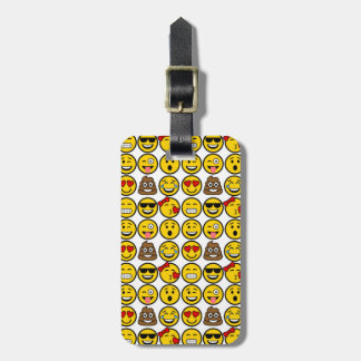 Fun Emoji Pattern Emotion Faces Luggage Tag