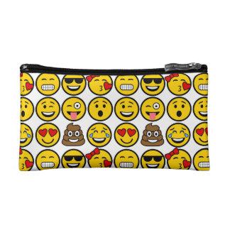 Fun Emoji Pattern Emotion Faces Makeup Bag