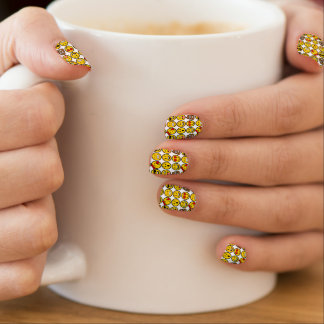 Fun Emoji Pattern Emotion Faces Minx Nail Art