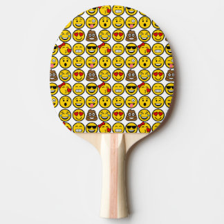 Fun Emoji Pattern Emotion Faces Ping Pong Paddle