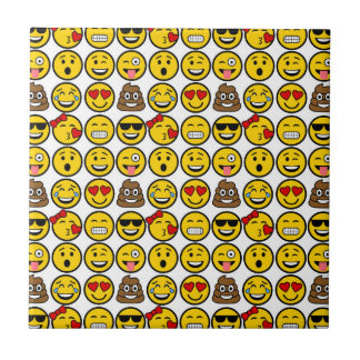 Fun Emoji Pattern Emotion Faces Tile