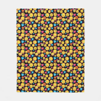Fun Emoji Print Fleece Blanket