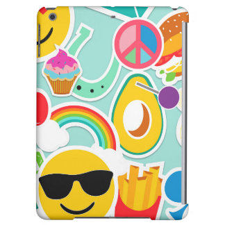 Fun Emoji Sticker Pattern Cover For iPad Air