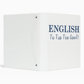 Fun English Binder for School or Work