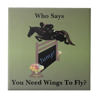 Fun Equestrian Horse Jumper Tile