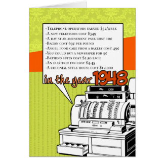 Fun Facts Birthday – Cost of Living in 1948 Card
