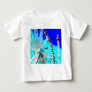 fun fair in amsterdam ferris wheel and high tower baby T-Shirt
