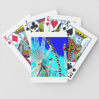 fun fair in amsterdam ferris wheel and high tower bicycle playing cards