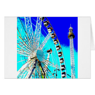 fun fair in amsterdam ferris wheel and high tower card