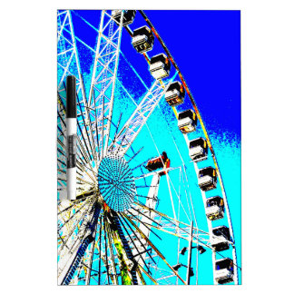 fun fair in amsterdam ferris wheel and high tower dry erase board