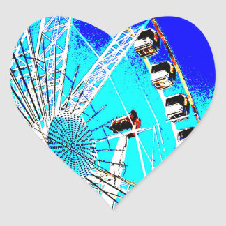 fun fair in amsterdam ferris wheel and high tower heart sticker