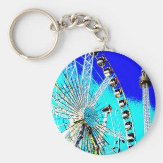 fun fair in amsterdam ferris wheel and high tower keychain