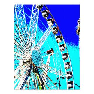 fun fair in amsterdam ferris wheel and high tower letterhead