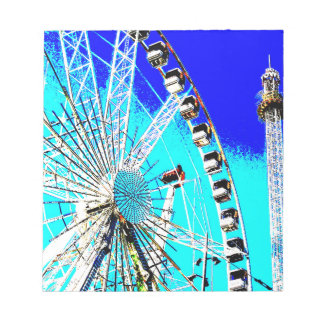 fun fair in amsterdam ferris wheel and high tower notepad
