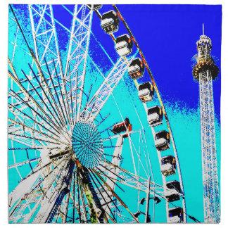 fun fair in amsterdam ferris wheel and high tower printed napkin