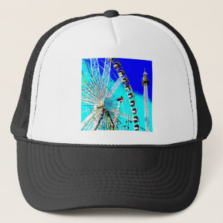 fun fair in amsterdam ferris wheel and high tower trucker hat