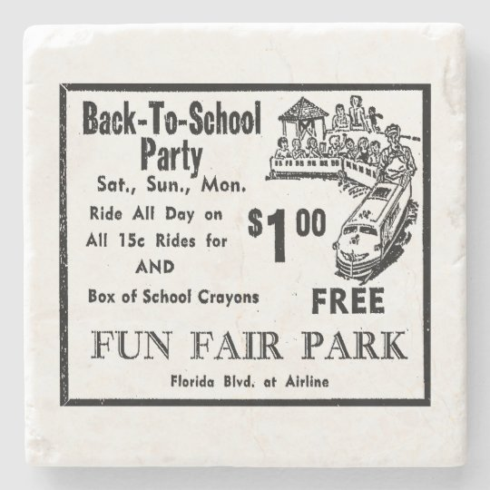 Fun Fair Park Ad 1 Stone Coaster