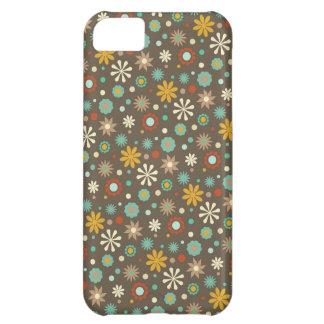 Fun Fall Floral Pattern Aqua Brown Yellow Orange iPhone 5C Covers