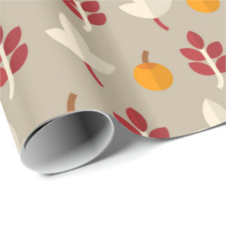 Fun Fall Seasonal pattern leaf party wrap Wrapping Paper