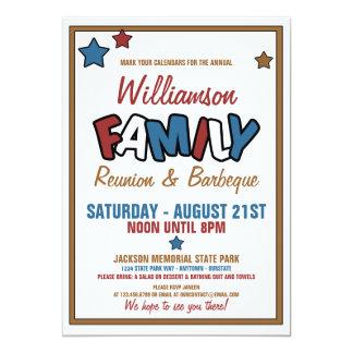 """Fun Family Reunion Invitations 5"""" X 7"""" Invitation Card"""