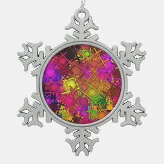 fun,fantasy and joy 5 snowflake pewter christmas ornament