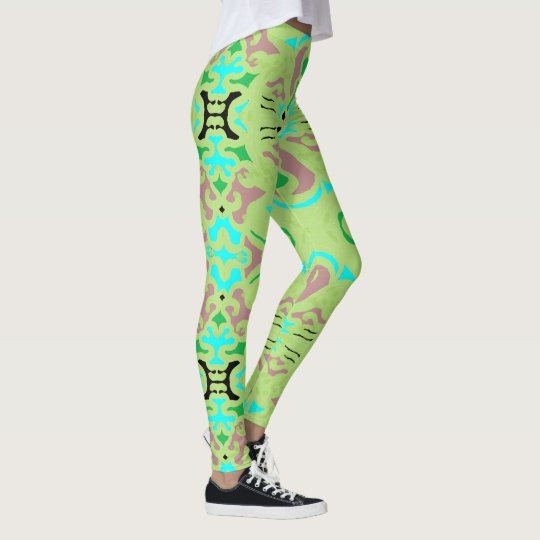 Fun Fashion Leggings-Mauve/Green/Blue/Black Leggings