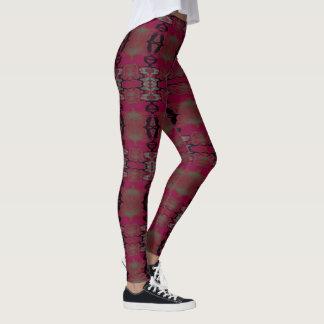 Fun Fashion Leggings-Women-Gray/Cranberry/Black Leggings