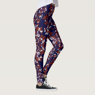 Fun Fashion Leggings-Women-Red/White/Blue Leggings