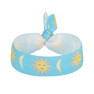 Fun Fashionable Whimsical Sun Moon Hair Accessory Hair Tie